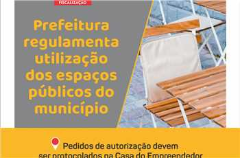 Regulamentação espaços públicos